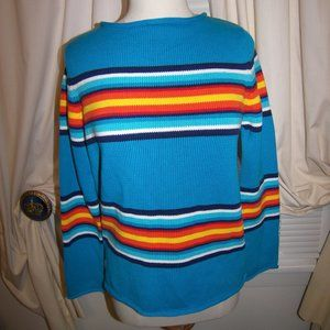 Ralph Lauren Serape Stripe Cotton Sweater NWT $119